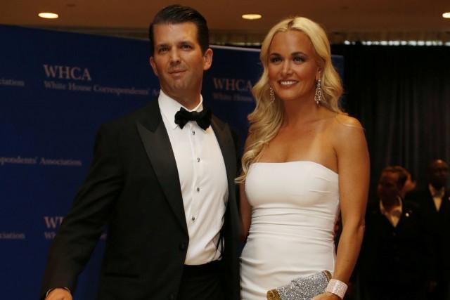 Donald Trump fils et sa femme Vanessa.... (ARCHIVES REUTERS)
