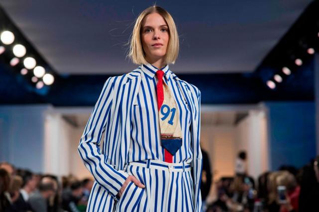 Tout dans le défilé de la Fashion Week... (Photo AFP)