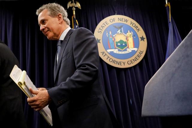 Le procureur de l'État de New York,Eric Schneiderman,... (PHOTO REUTERS)