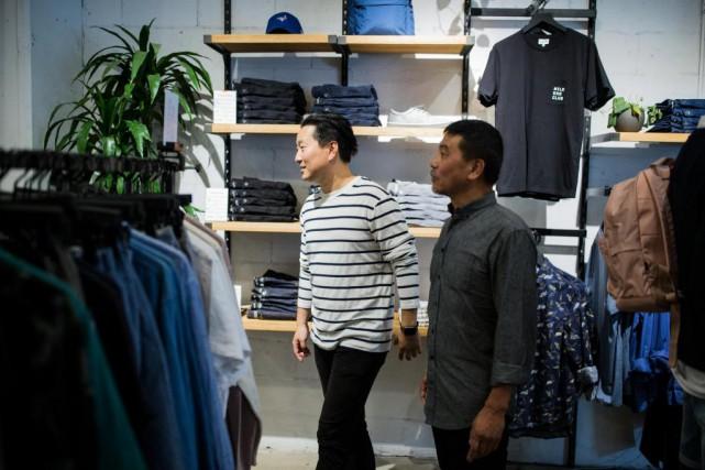Ethan Song (à gauche), cofondateur de Frank &... (Photo Edouard Plante-Fréchette, Archives La Presse)