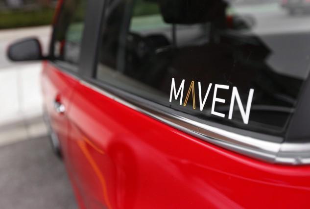 Une voiture du service d'autopartage Maven.... (Photo : Presse canadienne)
