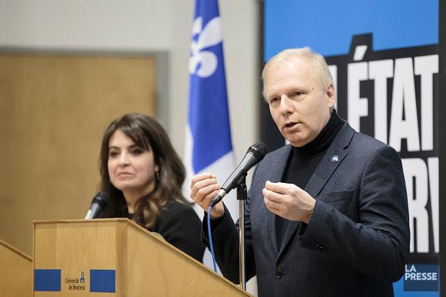Le chef du Parti québécois, Jean-François Lisée, et... (Édouard Plante-Fréchette, archives La Presse)