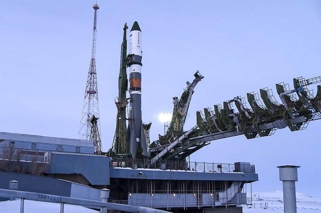 Mardi, la fusée Soyouz 2.1 a placé le... (Agence spatiale russe Roskosmos via AP)