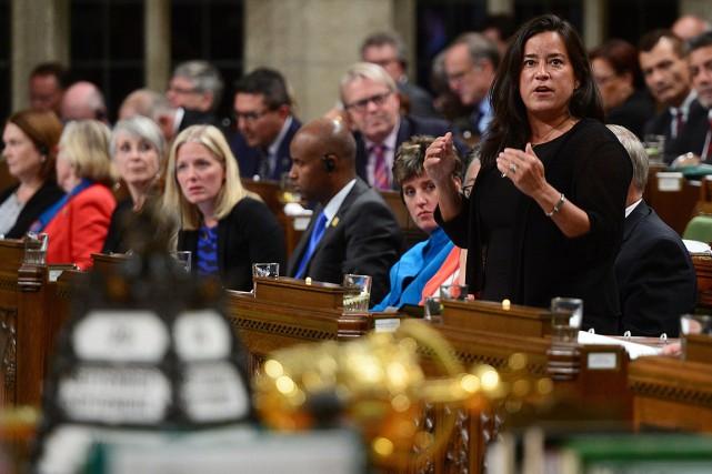 La ministre de la Justice, Jody Wilson-Raybould.... (Sean Kilpatrick, archives PC)