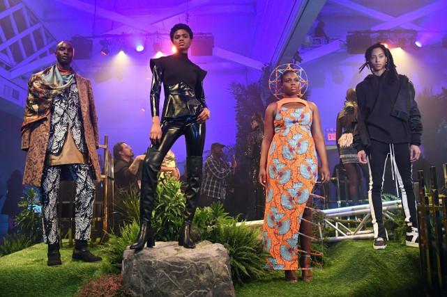 la Fashion Week de New York a fait... (Photo AFP)
