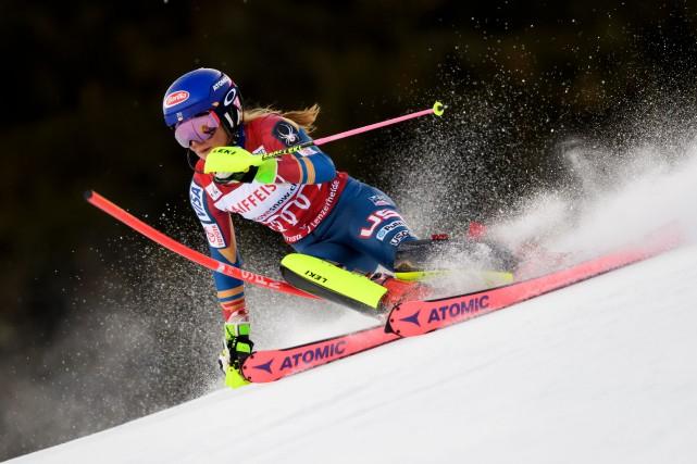 La reine du slalom, l'Américaine Mikaela Shiffrin, sera... (Photo Fabrice Coffrini, AFP)