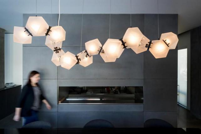 Suspension Welles Glass de Gabriel Scott, projet de... (Photo Marco Campanozzi, La Presse)