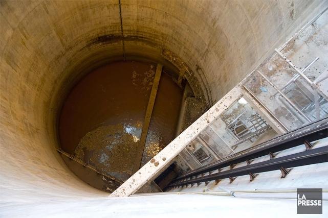 Une station d'épuration des eaux usées, à Montréal... (Archives La Presse)