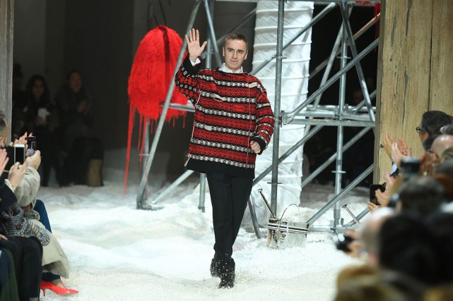Le designer belge Raf Simons a poursuivi mardi... (Photo AFP)