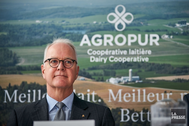 Le chef de la direction d'Agropur, Robert Coallier.... (Photo André Pichette, La Presse)