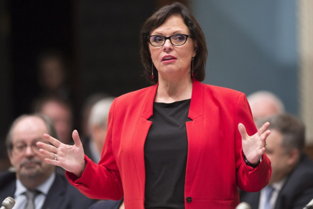 La ministre Lucie Charlebois... (Photo Jacques Boissinot, La Presse canadienne)