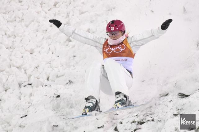 Catrine Lavallée a entamé sa compétition en effectuant... (Photo Bernard Brault, La Presse)