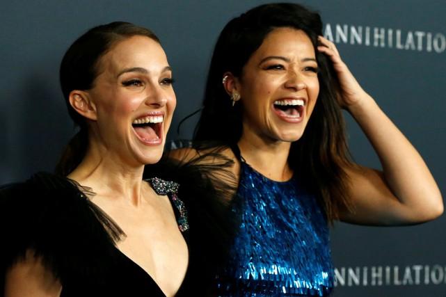Natalie Portman et Gina Rodriguez à la première... (Photo reuters)