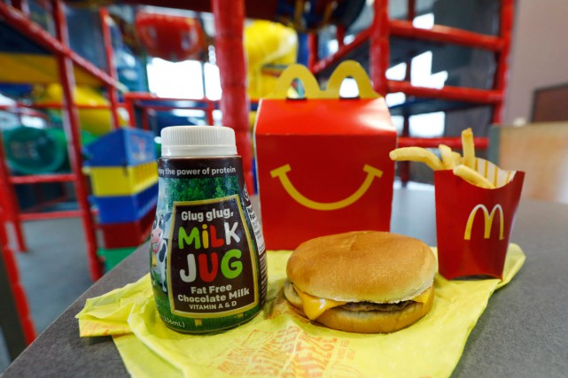 Un Joyeux festin de McDonald's.... (Photo AP)