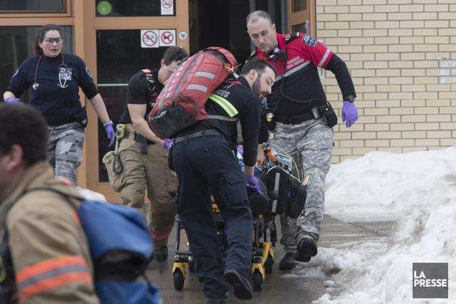Le jeune garçon aété conduit à l'hôpital dans... (Photo Patrick Sanfacon, La Presse)