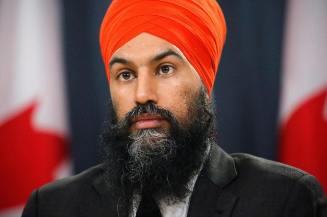 Jagmeet Singh, chef du Nouveau Parti démocratique... (Photo Patrick Doyle, La Presse canadienne)