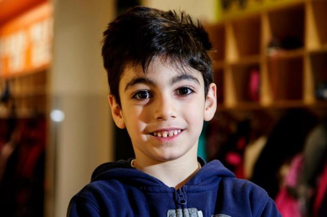 Christian Haddad, 6 ans... (Photo Alain Roberge, La Presse)