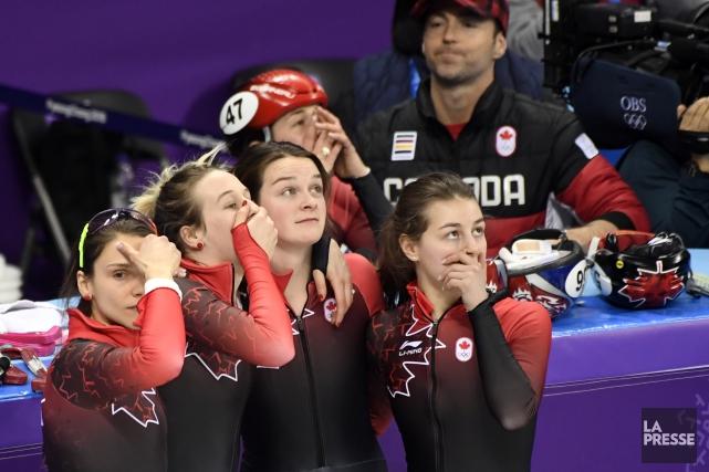 Les patineuses canadiennes ont accueilli la décision des... (Photo Bernard Brault, La Presse)