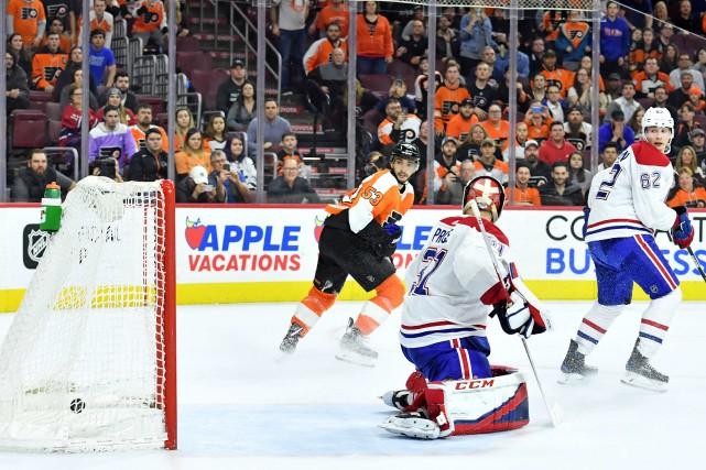 Voracek marque deux fois et les Flyers battent le Canadien 3-2