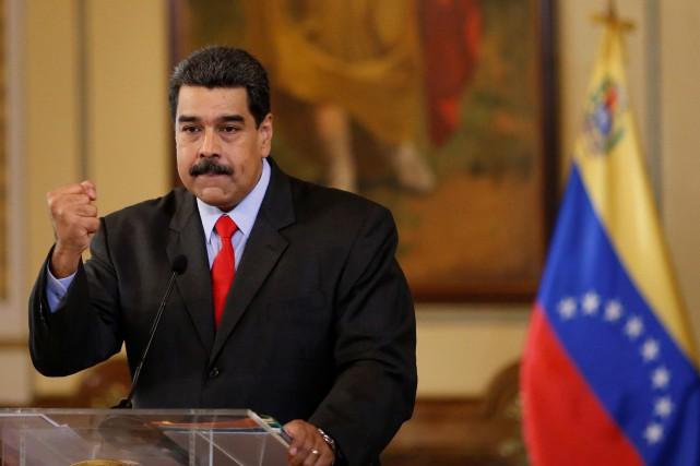 Nicolas Maduro fait face à un taux d'impopularité... (PHOTO REUTERS)