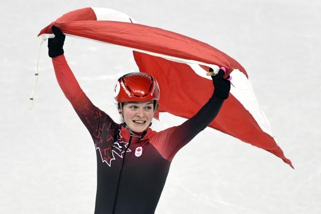 Kim Boutin est la première patineuse de vitesse... (Photo Bernard Brault, La Presse)