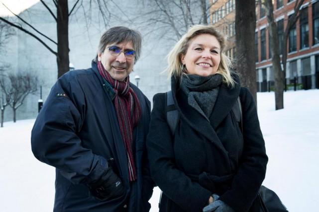 Pierre Greco et Nancy Florence Savard,les deux principaux... (PHOTO MARCO CAMPANOZZI, LA PRESSE)
