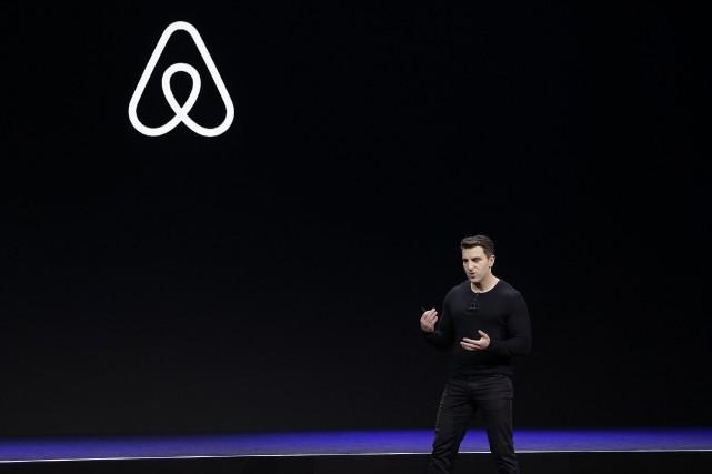 Lepatron et cofondateur d'Airbnb BrianChesky.... (Photo Eric Risberg, Associated Press)
