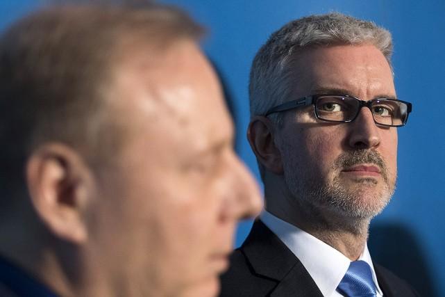 Le chef du Parti québécois, Jean-François Lisée (à... (La Presse)
