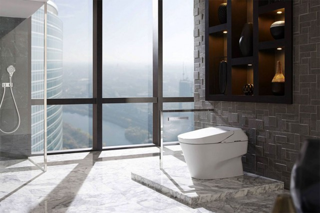 La toilette intelligente Neorest 700H de Toto comprend... (PHOTO FOURNIE PAR TOTO)