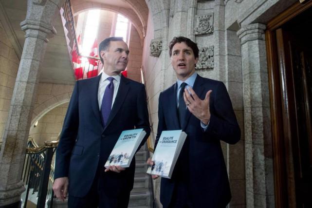 Le nouveau budget libéral, présenté hier par le... (PHOTO PC)