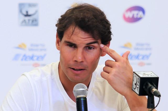 Rafael Nadal souffre toujours d'une blessure à la... (Photo AFP)