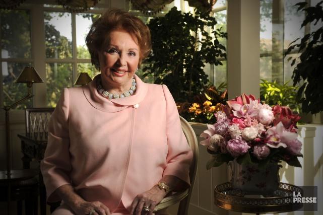 Jacqueline Desmarais dans sa demeure de Westmount en... (PHOTO BERNARD BRAULT, ARCHIVES LA PRESSE)
