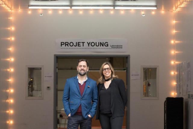 Patrick Dubé et Violaine Des Rosiers, codirecteur et... (Photo Ivanoh Demers, La Presse)