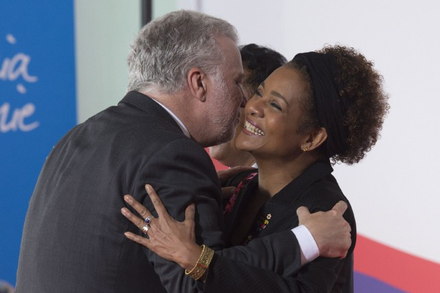 Philippe Couillard et Michaëlle Jean.... (Photo archives La Presse canadienne)