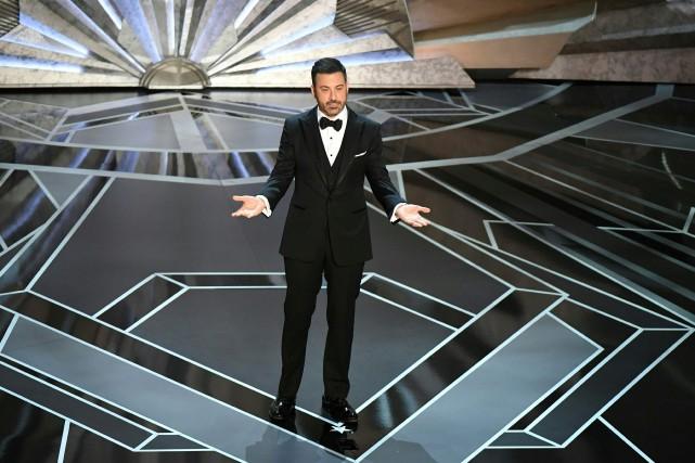 L'aimateur du gala des Oscars, Jimmy Kimmel.... (PHOTO AFP)