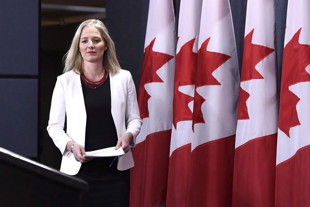 La ministre fédérale de l'Environnement, Catherine McKenna.... (Justin Tang, archives PC)