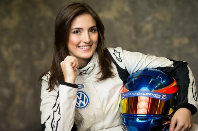 Tatiana Calderon à l'époque où elle pilotait pour...