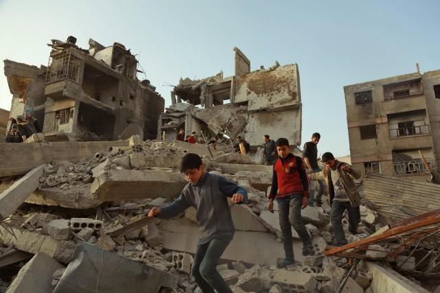 Déclenché le 15 mars 2011 par la répression... (Photo Hamza Al-Ajweh, Agence France-Presse)