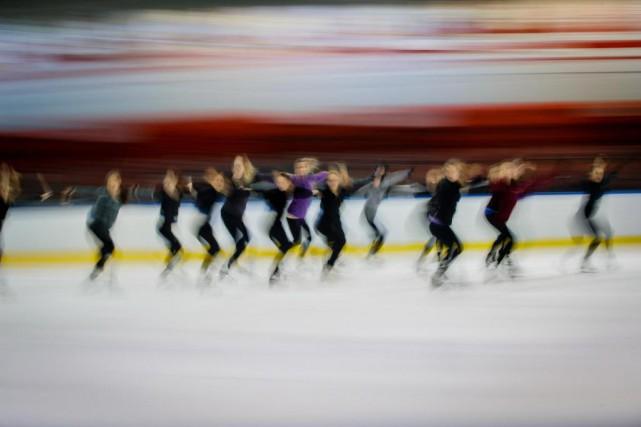 Le patinage synchronisé a été créé dans les... (Photo Olivier Jean, La Presse)