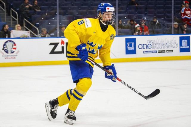 Le défenseur suédois RasmusDahlin devrait être sélectionné au... (Photo Mark Blinch, archives PC)