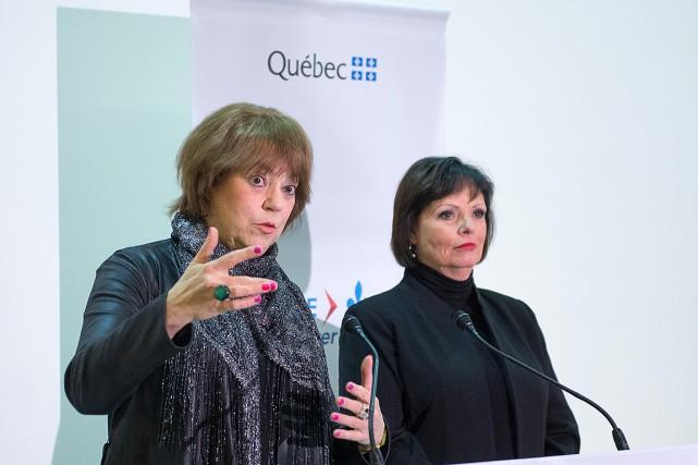 Hélène David,ministre responsable de la Condition féminine et... (PHOTO CATHERINE LEFEBVRE, COLLABORATION SPÉCIALE)