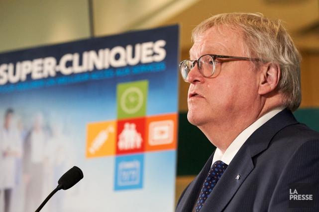 Le ministre de la Santé, Gaétan Barrette... (Photo André Pichette, La Presse)