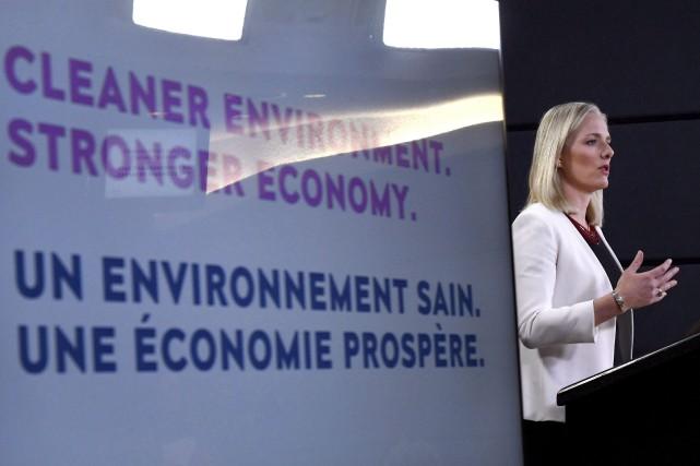 Catherine McKennaa avancé que l'objectif de la Charte... (Photo Justin Tang, La Presse canadienne)