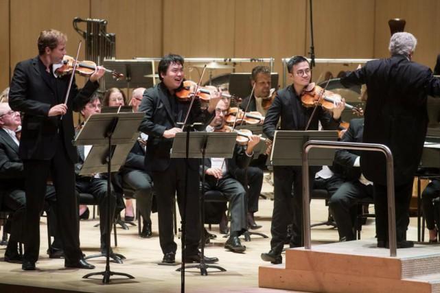 Jonathan Crow, Yosuke Kawasaki, Andrew Wan, Peter Oundjian... (PhotoJag Gundu, fournie par l'OSM)