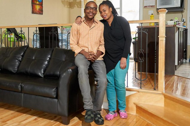 Johnny Pierre et sa conjointe Judith Daniel.«On voulait... (Photo André Pichette, La Presse)