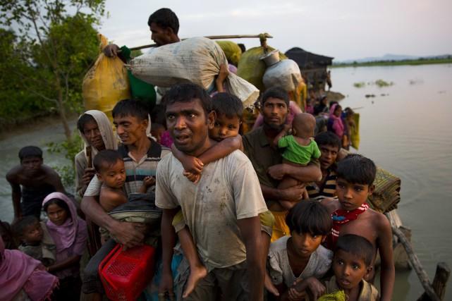 Une campagne de l'armée birmane a poussé à... (PHOTO AP)