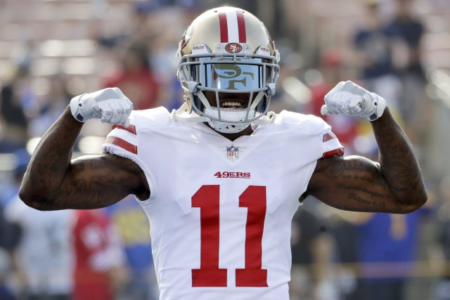 Marquise Goodwin... (Photo Rick Scuteri, archives AP)