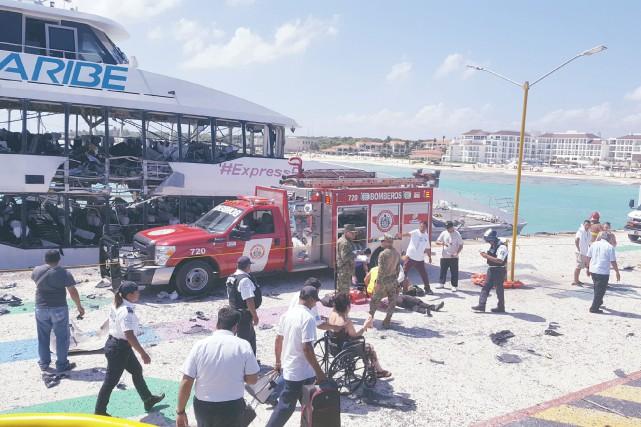 Une explosion survenue le mois dernier sur un... (PHOTO REUTERS)