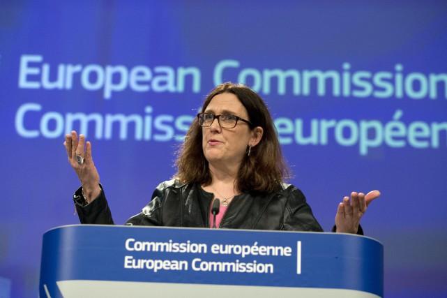 La commissaire européenne au Commerce, Cecilia Malström.... (PHOTO AP)