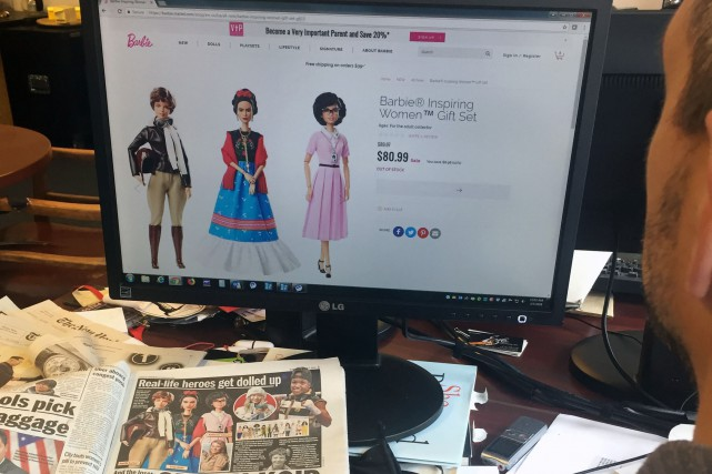 De nouvelles poupées Barbie «inspirantes» se retrouvent sur... (PHOTO AFP)